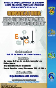 CARTEL CONVOCATORIA ENGLISH CLUB-TUTORIAS
