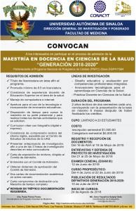 CONVOCATORIA MAESTRIA DOCENCIA DE LA SALUD 2018-2020-001