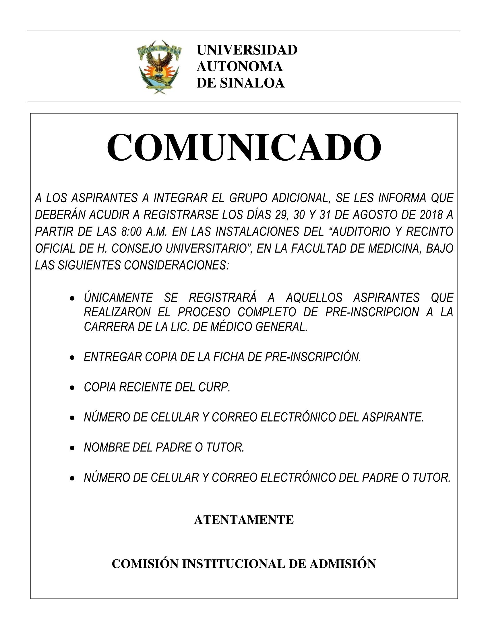 COMUNICADO MEDICINA-1