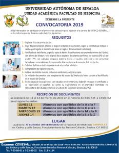 Convocatoria Medico General 2019