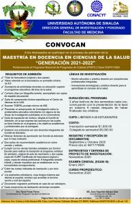 CONVOCATORIA MAESTRIA 2021-2022